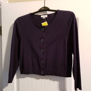 Navy Shrug w/toggle closures